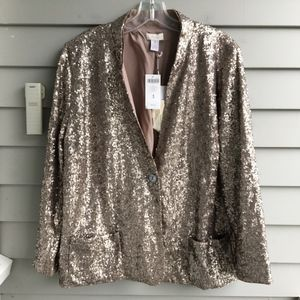 CHICO'S All OVer Sequin Jacket Sz.XL 16 (3) NWT